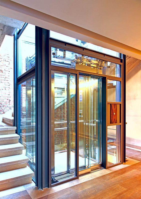 thang máy cabin bằng kính