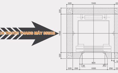 Kích thước thang máy gia đình 300kg và bản vẽ thiết kế chi tiết